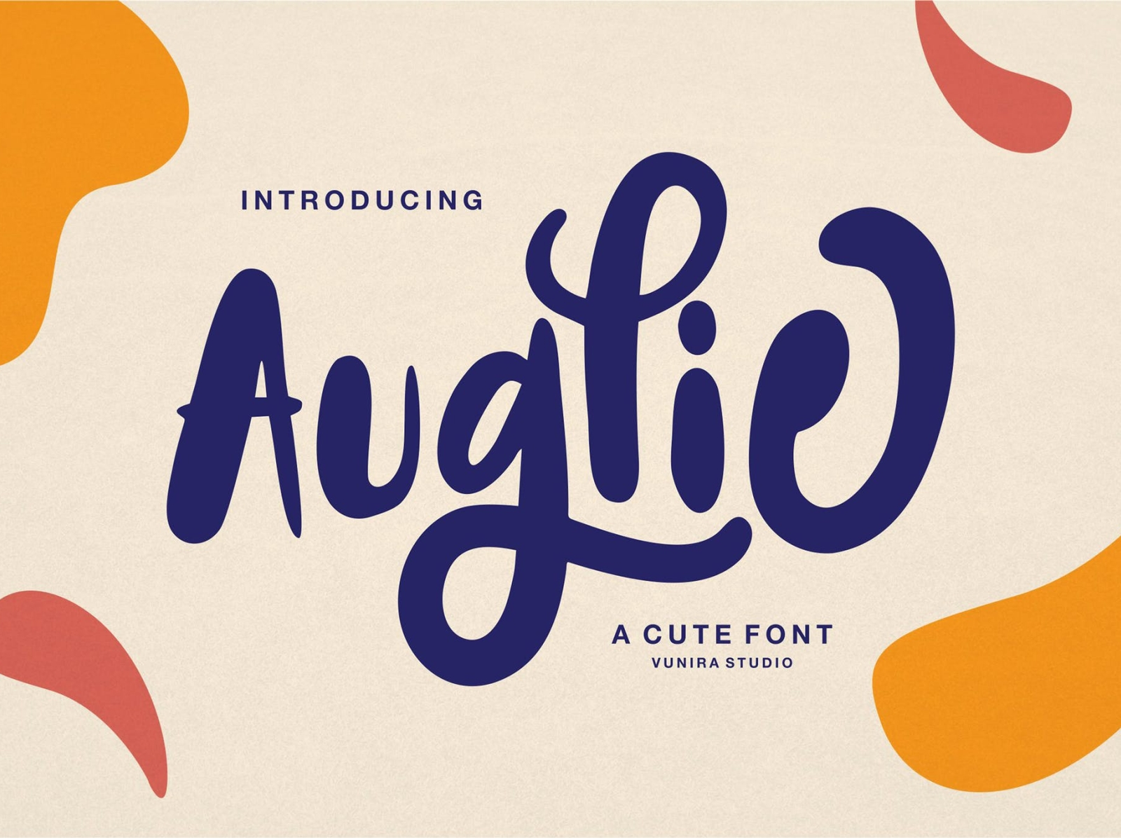 Auglie | A Cute Font vintage typeface display font minimal quotes calligraphy cute font ux ui vector app typography logo graphic design illustration design branding
