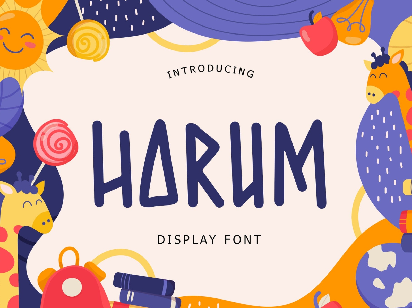 Harum Display Font display font ui ux vector app typography logo graphic design illustration design branding