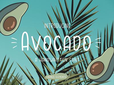Avocado Handwritten Font typeface cute avocado font handwritten ux ui vector app logo typography graphic design illustration design branding