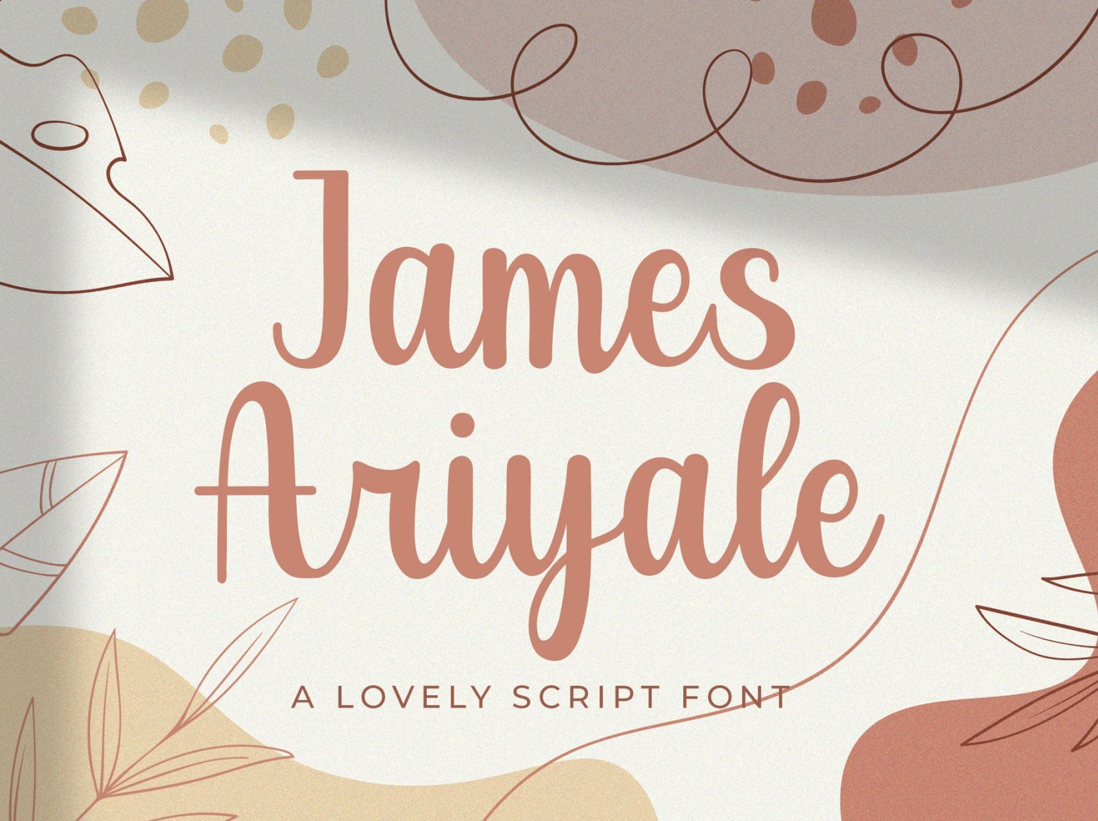 James Ariyale - Handwritten Font creative elegant beautiful font handwritten ux ui vector app typography logo graphic design illustration design branding