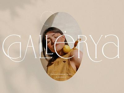 Gallerya - Unique Ligature Typeface display font display font gallery ux ui vector logo app typography illustration graphic design design branding