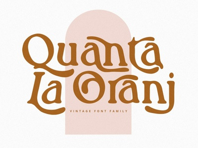 Quanta La Oranj Vintage Serif Font typeface display font logofont display font app typography illustration graphic design design branding