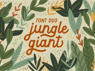 Jungle Giant Font Duo typeface display font display font ux ui vector app logo typography illustration graphic design design branding