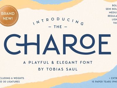 Charoe Typeface web classy modern 3d minimal vintage typeface display font display font ux vector ui app logo typography illustration graphic design design branding