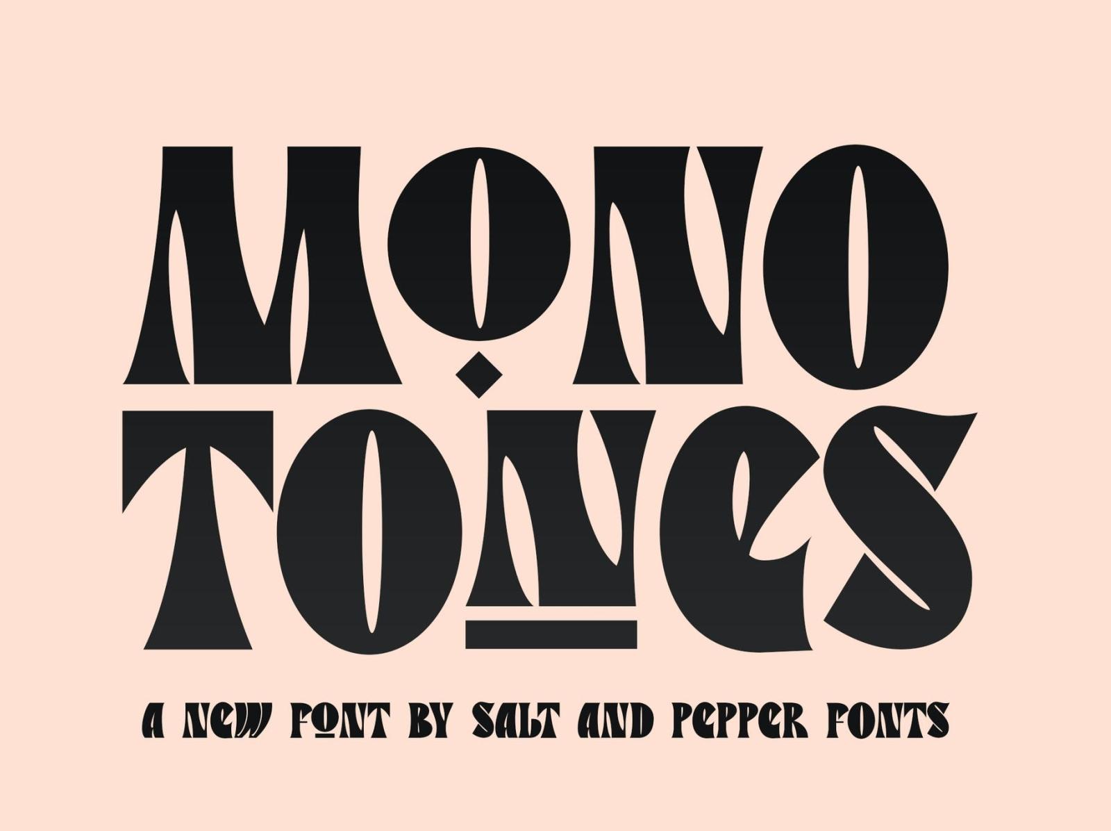 Monoetones Font monotone display font display font ux vector app motion graphics 3d animation ui logo typography illustration graphic design design branding