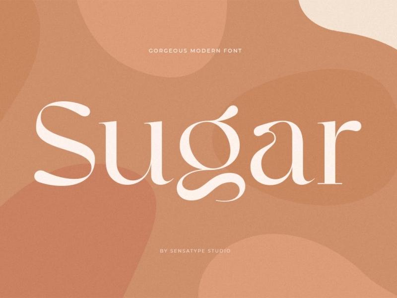 Sugar Display Typeface display font gorgeous display font ux vector ui logo app typography illustration graphic design design branding
