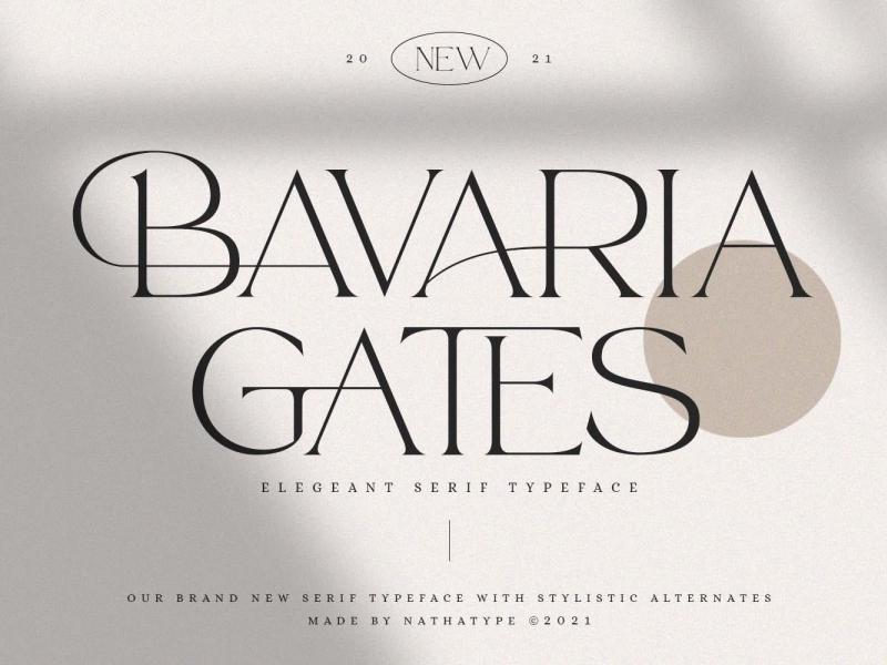 Baavaria Gates Font display font serif font serif display font ux vector ui app logo typography illustration graphic design design branding