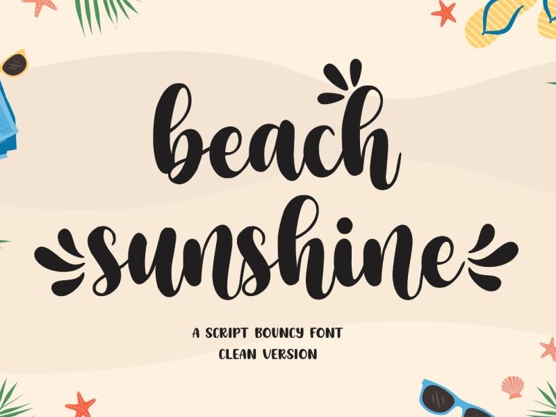 Beach Sunshine Font serif display font vintage modern sunshine beach ux vector ui logo app typography illustration graphic design design branding
