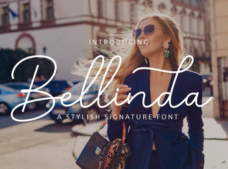 Bellinda Signature Font signature font signature stylish font display ux vector ui logo app typography illustration graphic design design branding