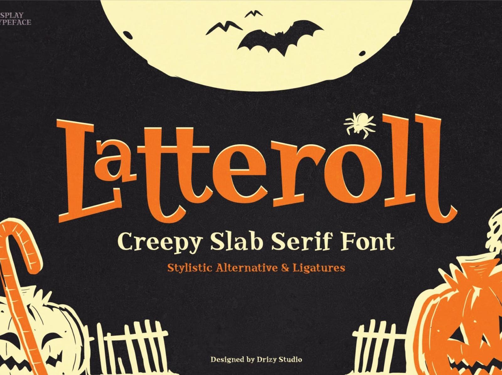 Letteroll Halloween Font display font pumpkin display haunted spooky halloween font ux vector ui app logo typography illustration graphic design design branding