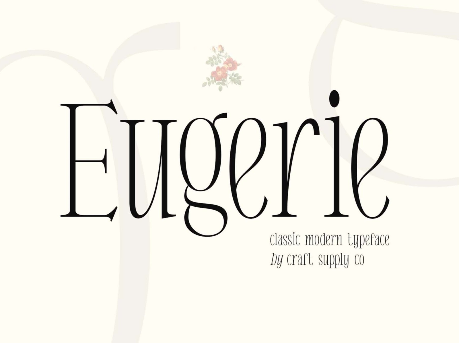 Eugerie - Classic Modern Typeface display modern classic typeface font ux vector ui logo app typography illustration graphic design design branding