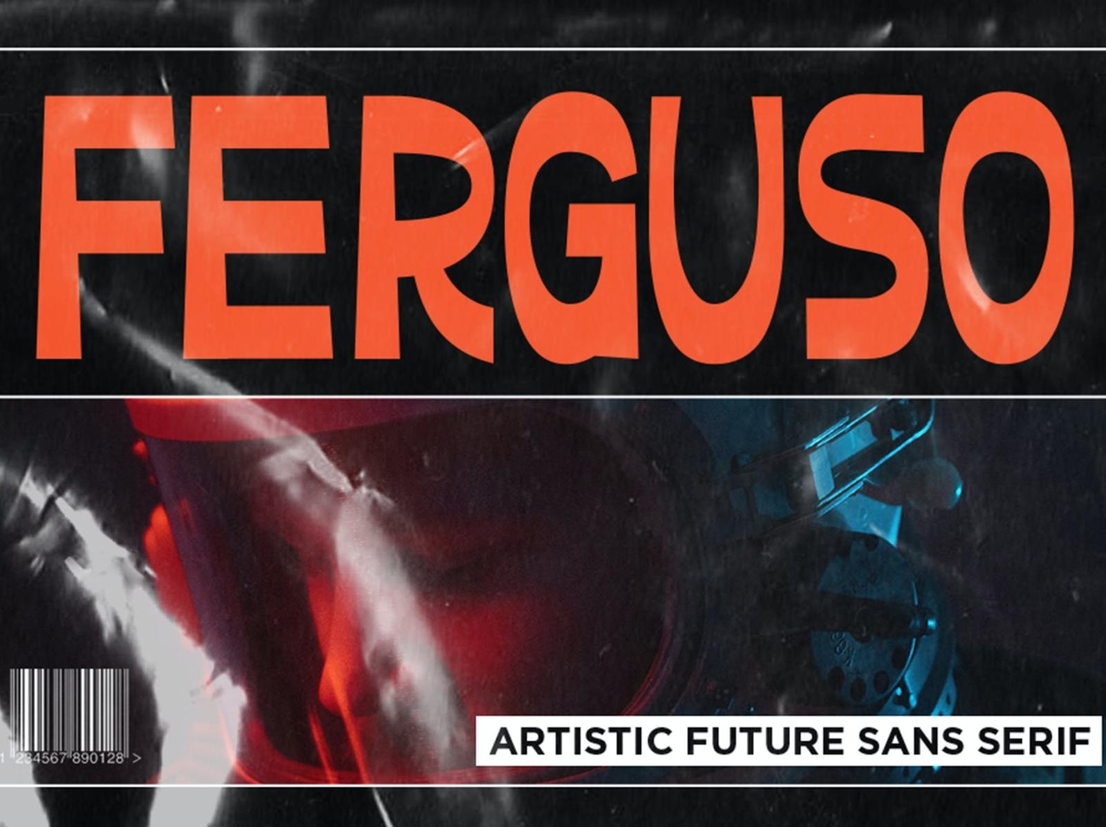 Ferguso - Aesthetic Sans Serif Font display font sans serif aesthetic font display ux vector ui logo app typography illustration graphic design design branding