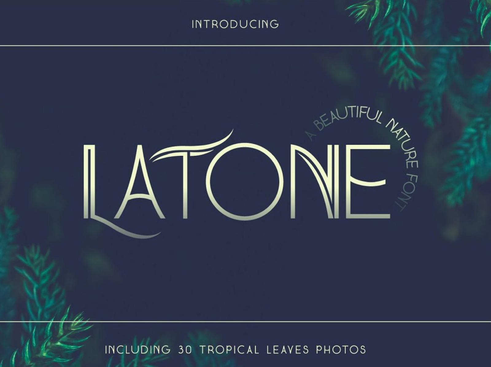 Latone Display Font typeface type elegant sans serif font display ux vector ui logo app typography illustration graphic design design branding