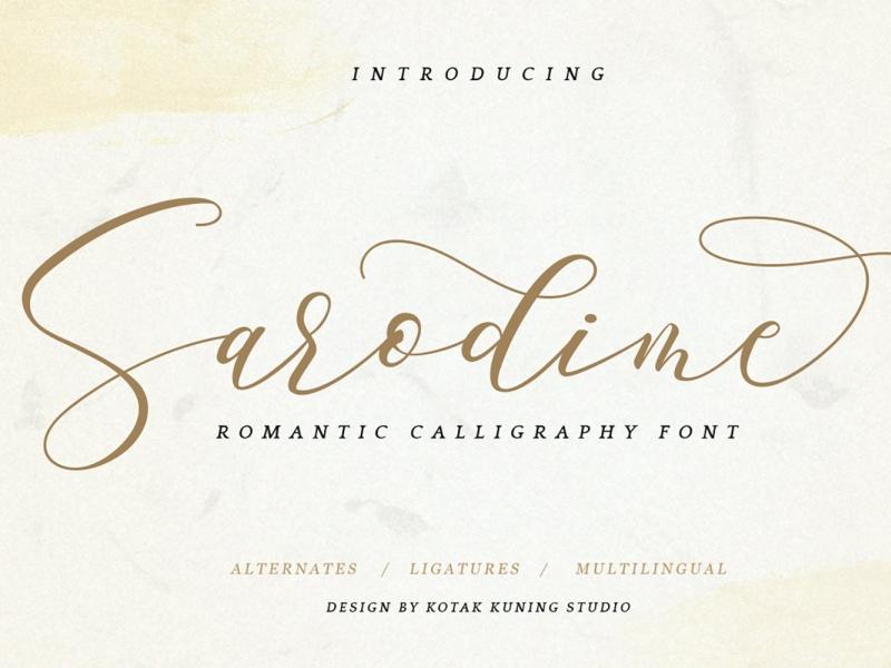 Sarodime Script Font display font signature font script font signature font script elegant ux vector ui logo app typography illustration graphic design design branding