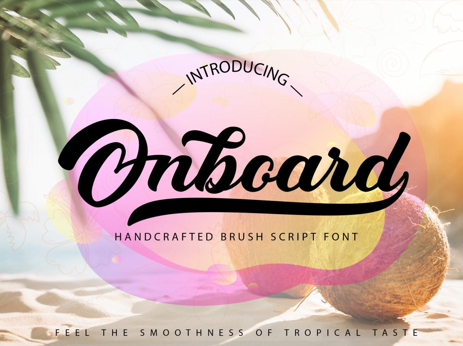 Onboard - Smooth Script Font display font script ux ui vector logo app typography illustration graphic design design branding