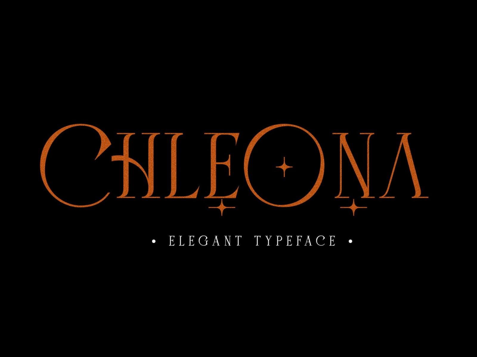 Chleona Elegant Font vintage serif elegant display font ux vector ui logo app typography illustration graphic design design branding
