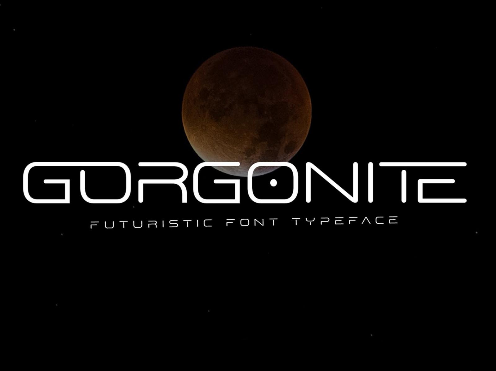 Gorgonite Futuristic Display Font display font font display futuristic gorgonite ux vector ui app logo typography illustration graphic design design branding