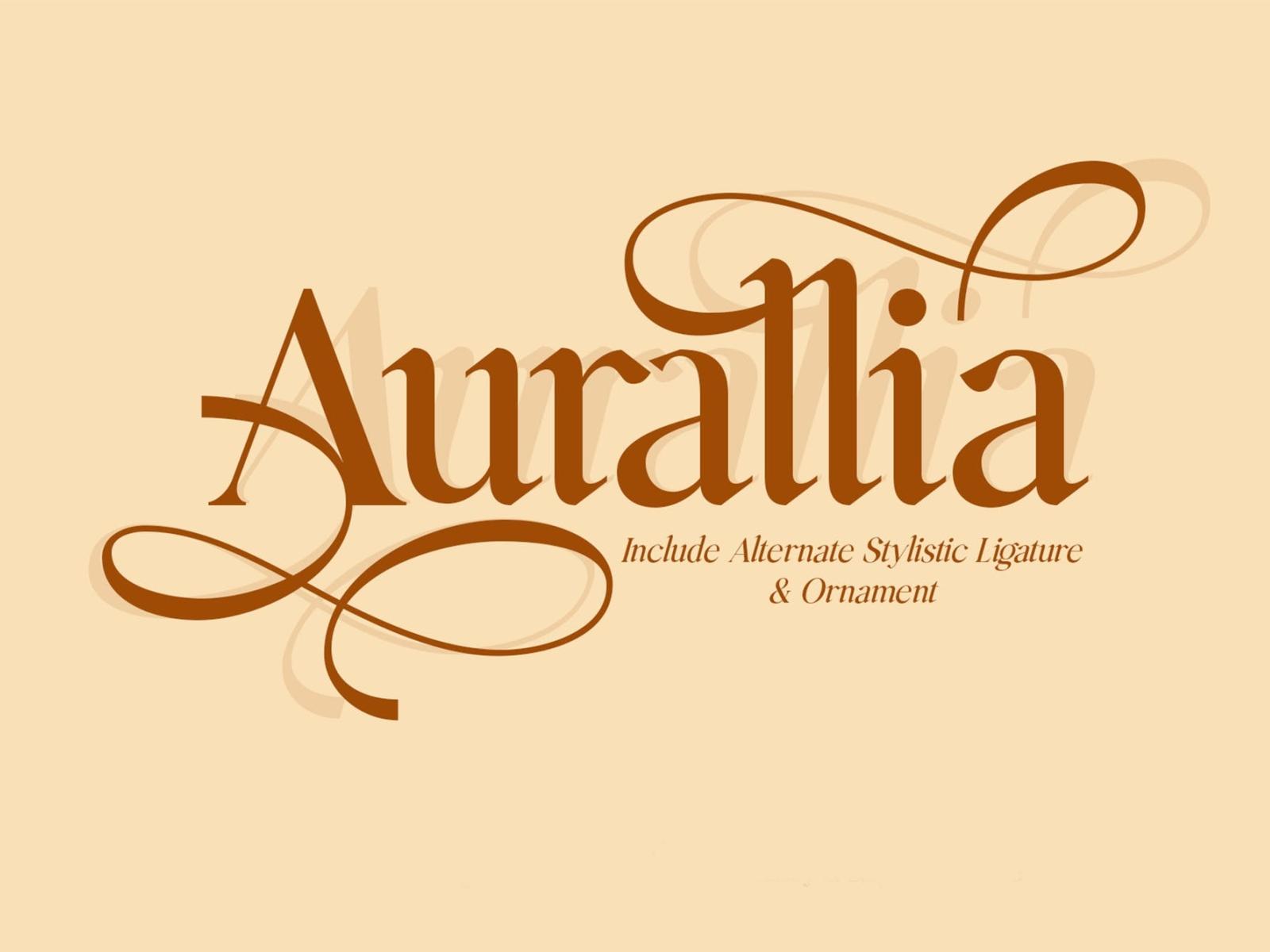 Auralia Display Font stylish font display serif stylish font aurallia ux vector ui app logo typography illustration graphic design design branding