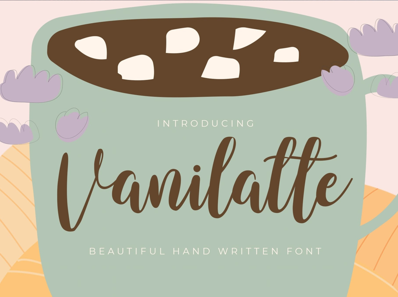 Vanilaate Handwritten Font script font cafe coffee handwritten display script font ux vector ui app logo typography illustration graphic design design branding