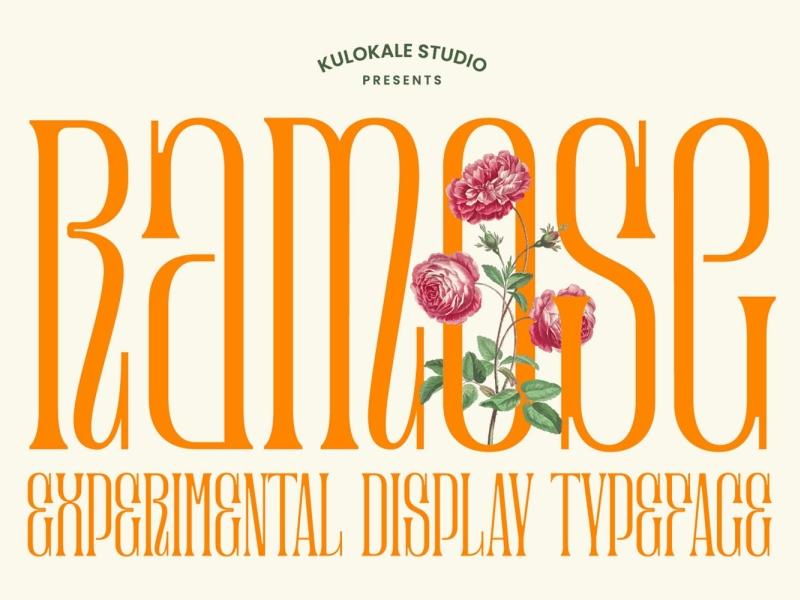 Ramose - Classic Display Font display font vintage classic classy font display ramose ux vector ui logo app typography illustration graphic design design branding