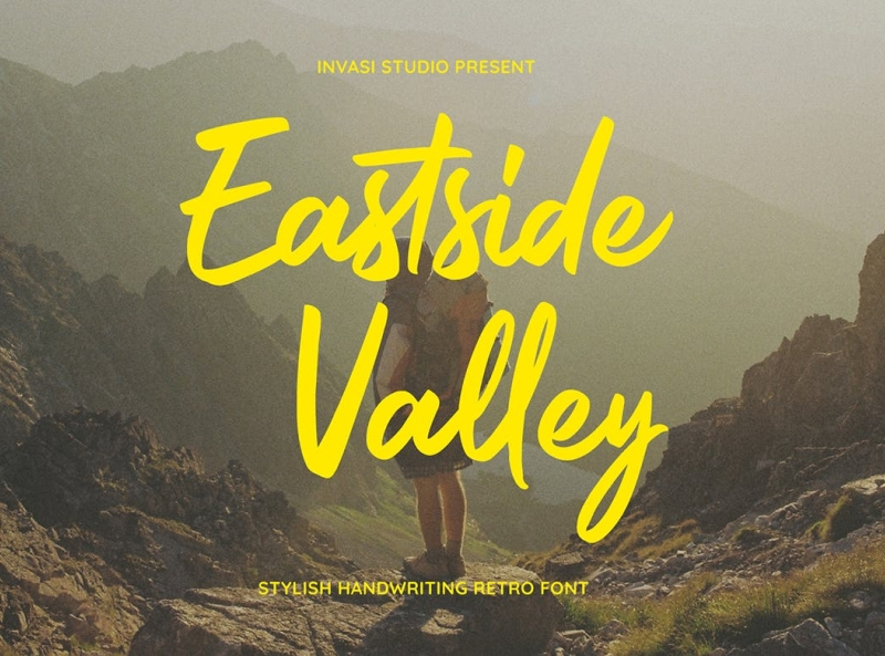 Eastside Valley Retro Font display font display vintage font retro ux vector logo motion graphics 3d animation ui app typography illustration graphic design design branding