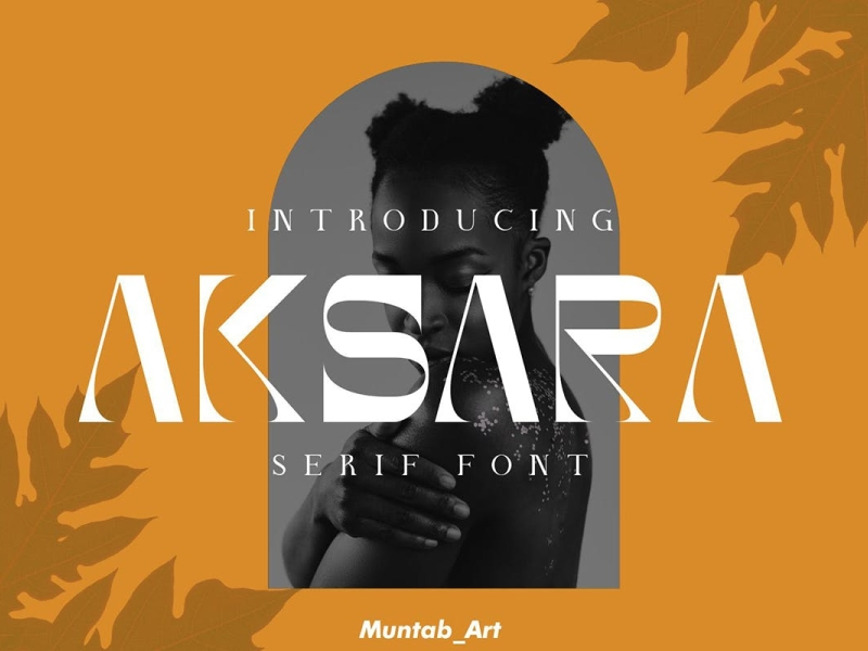 Akasara - Modern Serif Font display font font display modern ux vector ui logo app typography illustration graphic design design branding