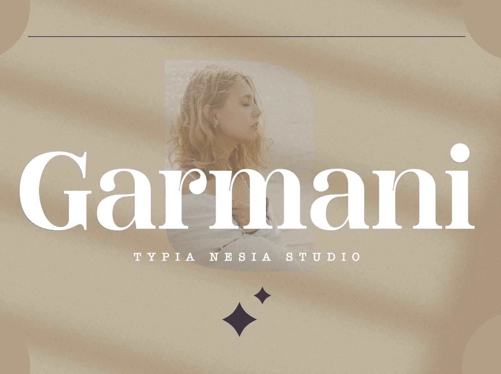 Garmani - Romantic Display Font serif font serif romantic display font ux vector ui logo app typography illustration graphic design design branding