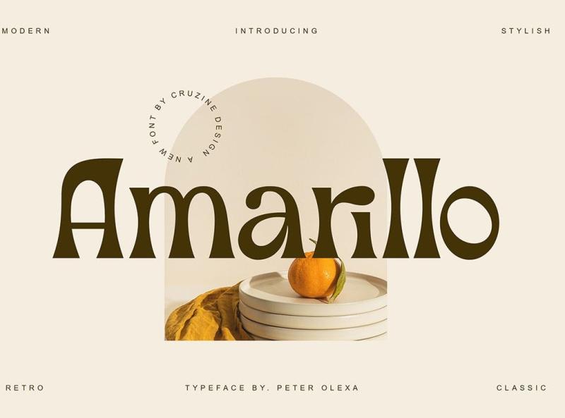 Amarillo - Modern Sans Font display font modern serif display font ux vector ui logo app typography illustration graphic design design branding