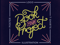 Book Your Projects Neon Dribbble