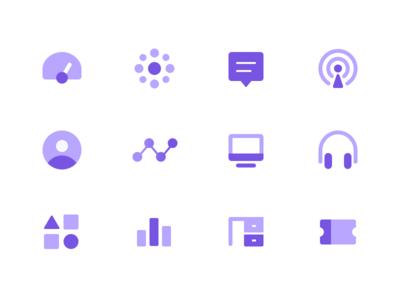 Dashboard icon set sendbird open channel icon set announcement user statistics monitoring ticket analytics message dashboard icon