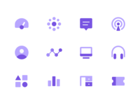 Dashboard icon set