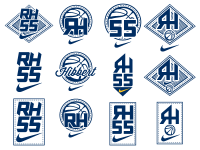 Roy Hibbert Logo Concepts logo typography basketball pacers shoes nike badge
