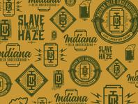 Indiana Beer Underground Logos badge beer typography indiana logo