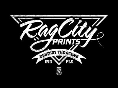 Rag City DTS Tee t-shirt screen print tee indiana typography