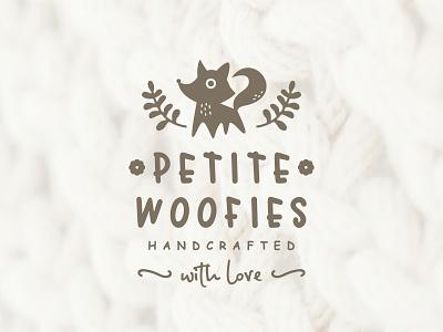Petite Woofies minimalist and modern logo design vector illustration design branding graphic design logo