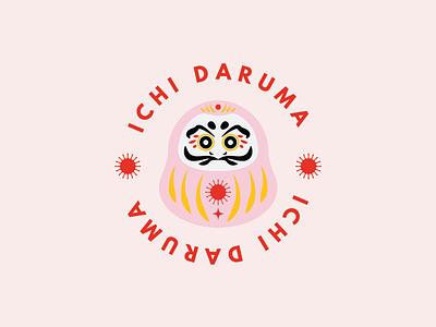 Ichi Daruma, playful and fun branding design vector illustration design graphic design branding logo
