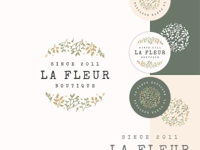 La Fleur Boutique Branding Design typography vector illustration design graphic design branding logo