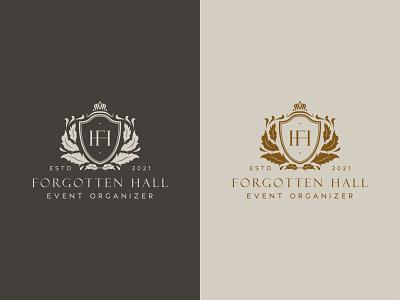Forgotten Hall Logo Design typography vector logo illustration design branding graphic design