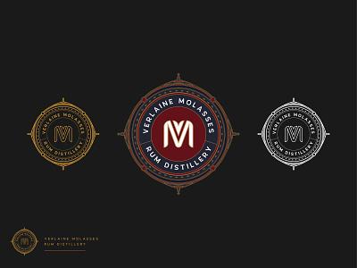 Verlaine Molasses Branding Design typography vector logo illustration graphic design design branding