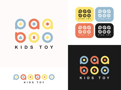 Paaboo Kids Toy Branding Design typography vector logo illustration graphic design design branding