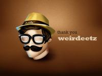 thank you @Aditya Nugraha Putra / weirdeetz for the invitation