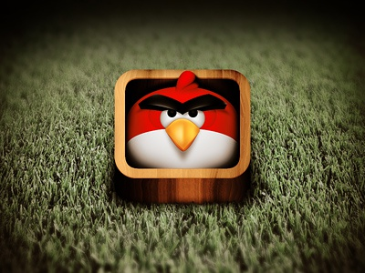 Angry Birds icon character angry bird grass red game