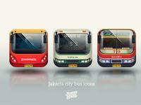 Jakarta city bus icons
