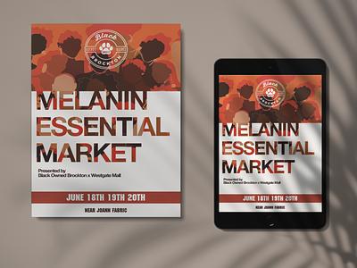 Melanin Essential Market Flyer melanin typography design graphic design flyer