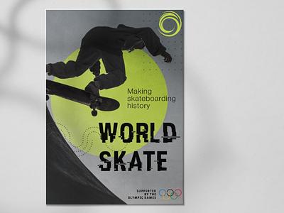 Flyer for Scating School olympic games skate flyer design design graphic design flyer