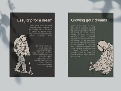 Dream poster dream astranaut poster flyer design design flyer graphic design