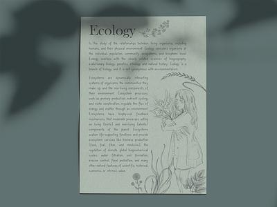Ecology flyer sketch ecology illustration poster flyer design design flyer graphic design
