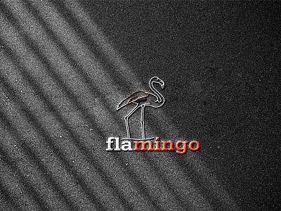 FLAMINGO logo design pink creative logo designer brand gray orange white black designer photoshop unique brand identity bird flamingo branding graphic design vector logo illustration design