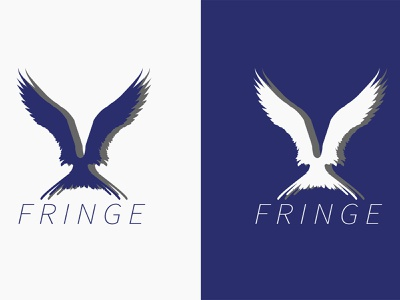 FRINGE LOGO DESIGN graphics logodesign logos brand company vector black gray clothing brand bird wings white blue logo illustration graphic design designer design branding brand identity