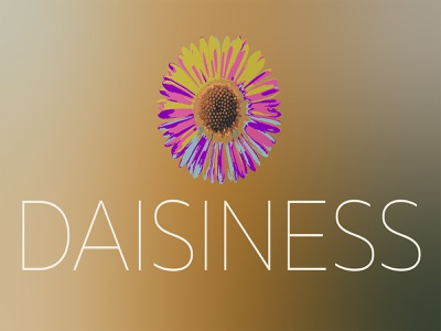 DAISINESS logo design photoshop illustrator logos brandlogo brand cosmetic perfume gray white green pink flower daisy vector illustration designer design brand identity graphic design branding logo